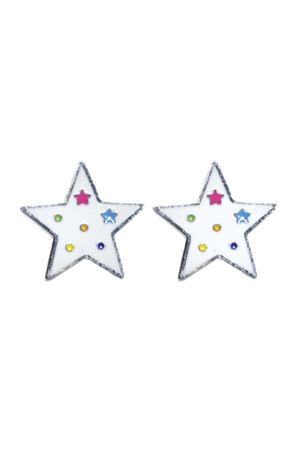 Pendientes-Star-White