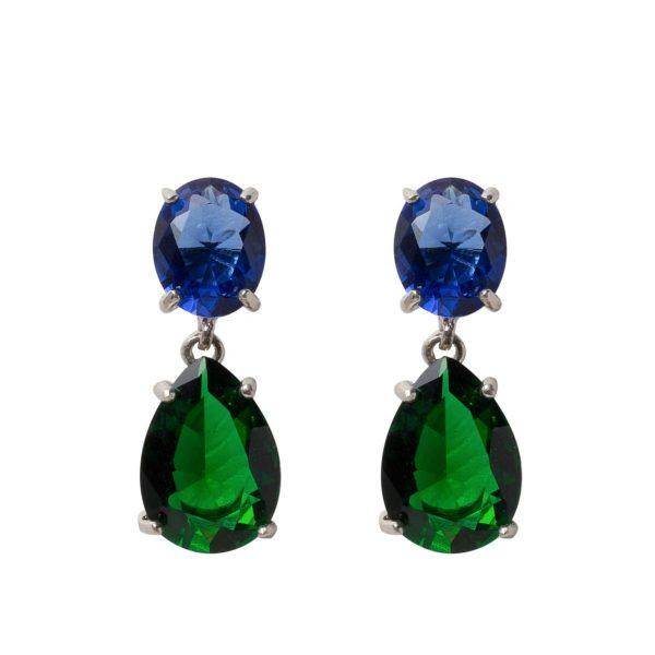 earrings-teardrop-green