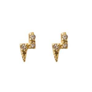 earrings-lightning-golden