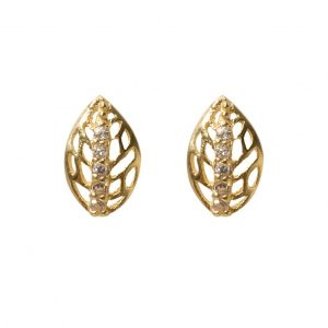 earrings-leaf-golden