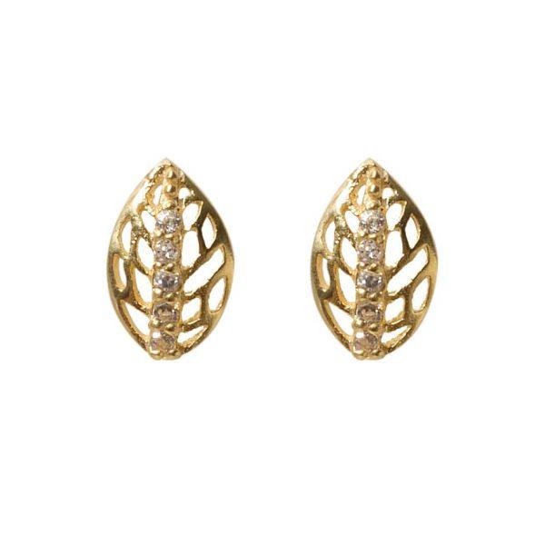 earrings-leaf-golden