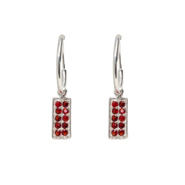 Earrings-circle-straight-red