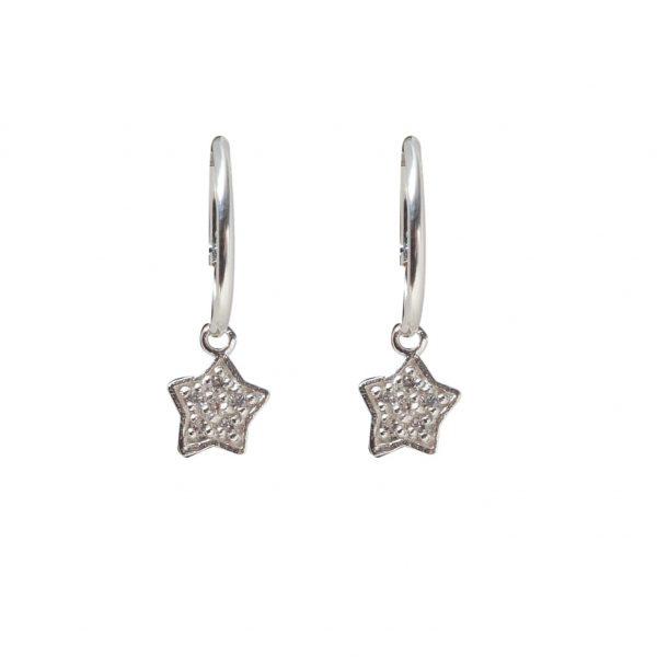 Earrings-long-star-circle
