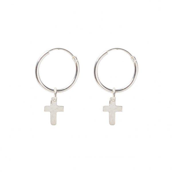 Earrings-cross-pedant