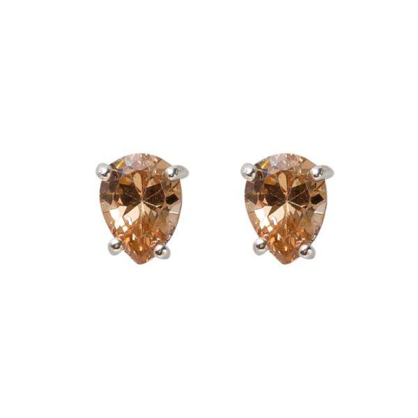earrings-peach-stone