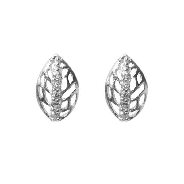 earrings-leaf -plated