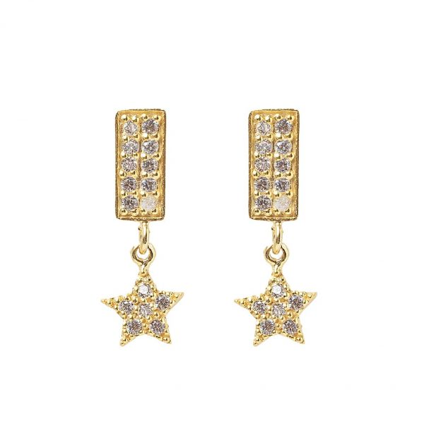 Earrings-rectangle-star