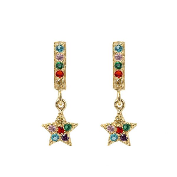 Earrings-star-closed