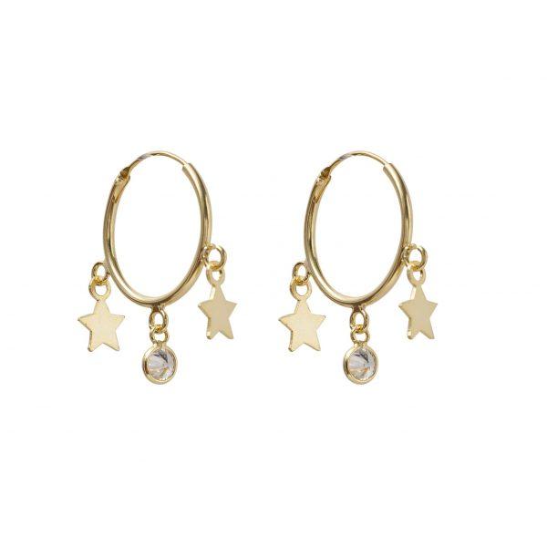 Earrings-star-circle