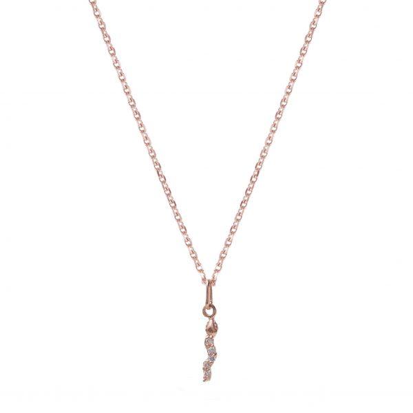 Necklace-snake-rose