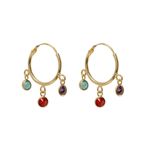 Earrings-circle-pearl