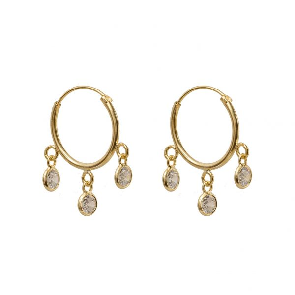 Earrings-circle-golden