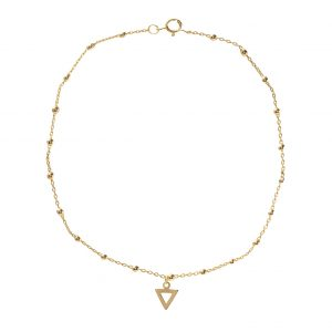 """Anklet-hollow-triangle"""