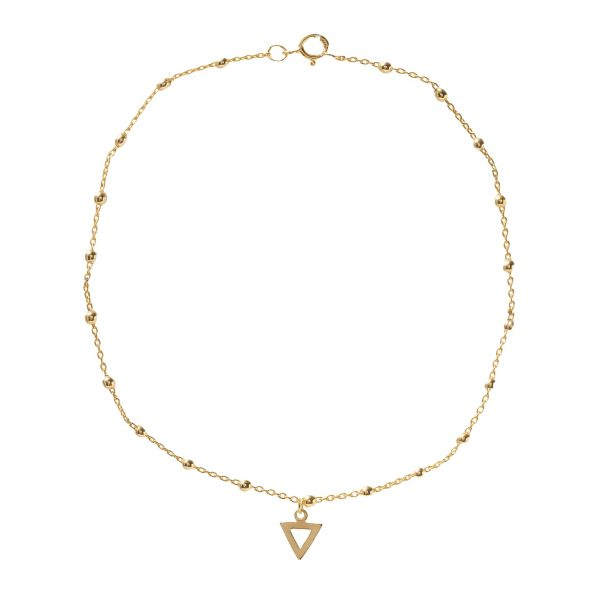 """""""Anklet-hollow-triangle"""""""
