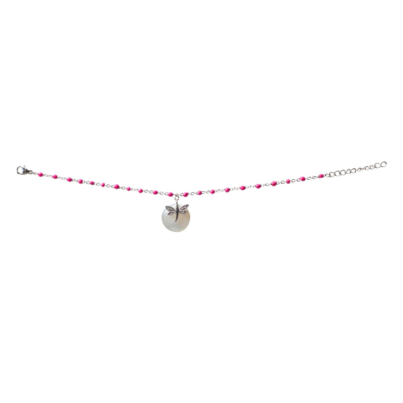 Bracelet Libélula Fucsia
